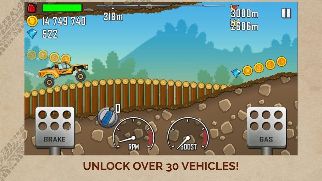hill climb racing hack unlimited coins and gems