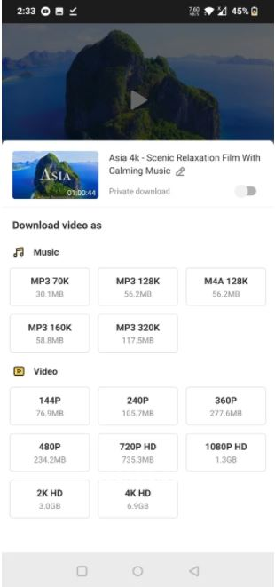 Features OF Snaptube Mod APK